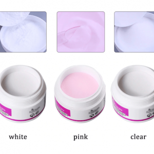 acrylic powder pink white clear
