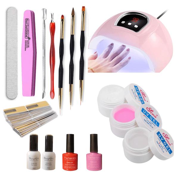 builder gel manicure set