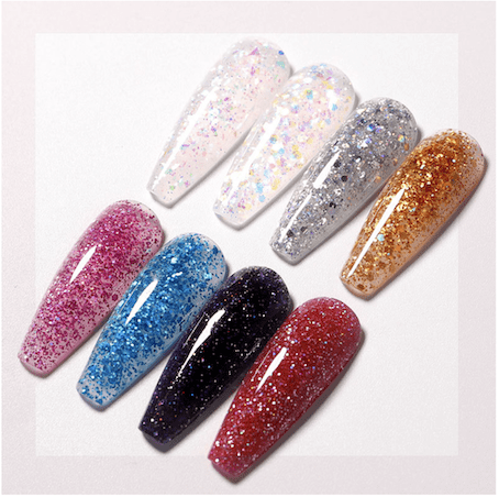 glitter polygel nails south africa