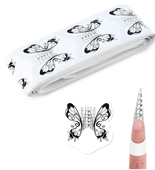 butterfly paper nail form